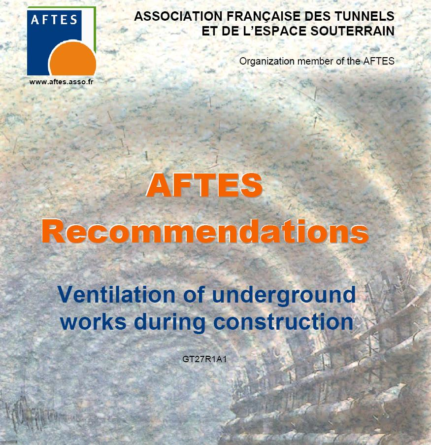 AFTES - Recomendations Ventilation of underground works during construction